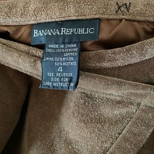 Banana Republic Skirts - Banana Republic Genuine Leather Suede Maxi Skirt